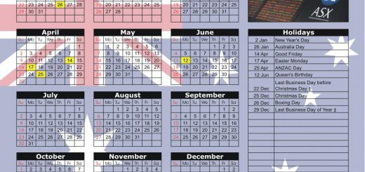 Australia Stock Exchange 2018 Holiday Calendar
