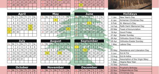 Beirut Stock Exchange (BSE) 2019 Holiday Calendar