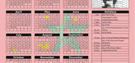 Casablanca Stock Exchange (BC) 2019 Holiday Calendar