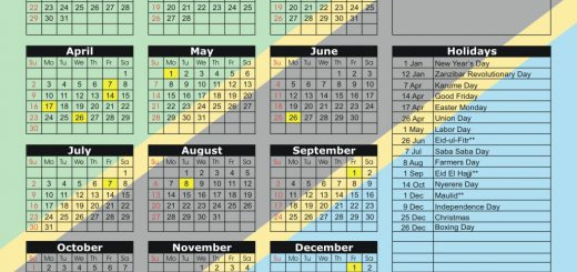 Dar es Salaam Stock Exchange (DSE) 2017 Holiday Calendar