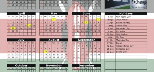 Nairobi Securities Exchange (NSE) 2019 Holiday Calendar