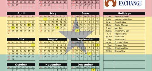 Ghana Stock Exchange (GSE) 2017 Holiday Calendar