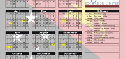Port Moresby Stock Exchange (POMSOX) 2017 Holiday Calendar