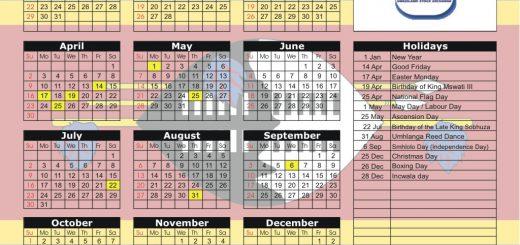 Swaziland Stock Market (SSX) 2017 Holiday Calendar