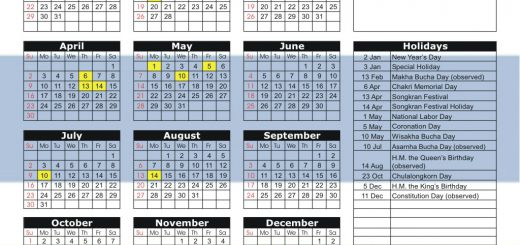 Thailand Futures Exchange (TFEX) 2017 Holiday Calendar