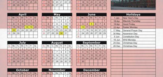 Copenhagen Stock Exchange (OMXC) 2019 Holiday Calendar