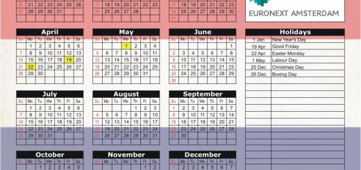 Euronext Amsterdam Stock Exchange (Euronext) 2019 Holiday Calendar